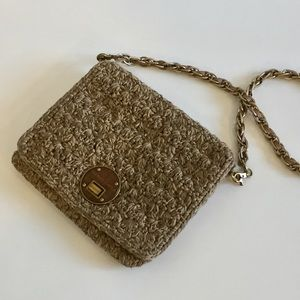 The SAK Elliott Lucca Beige Crochet Purse Bag